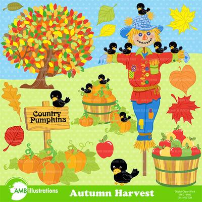 Autumn clipart harvest. Amb