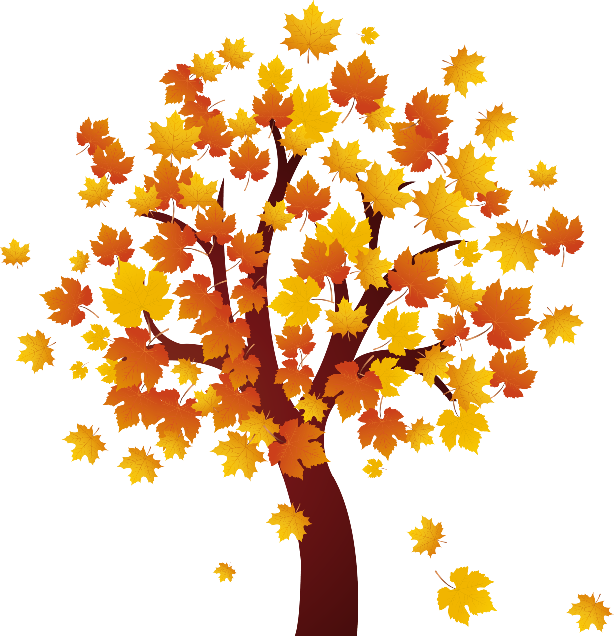 Autumm clip buscar con. Tree clipart september