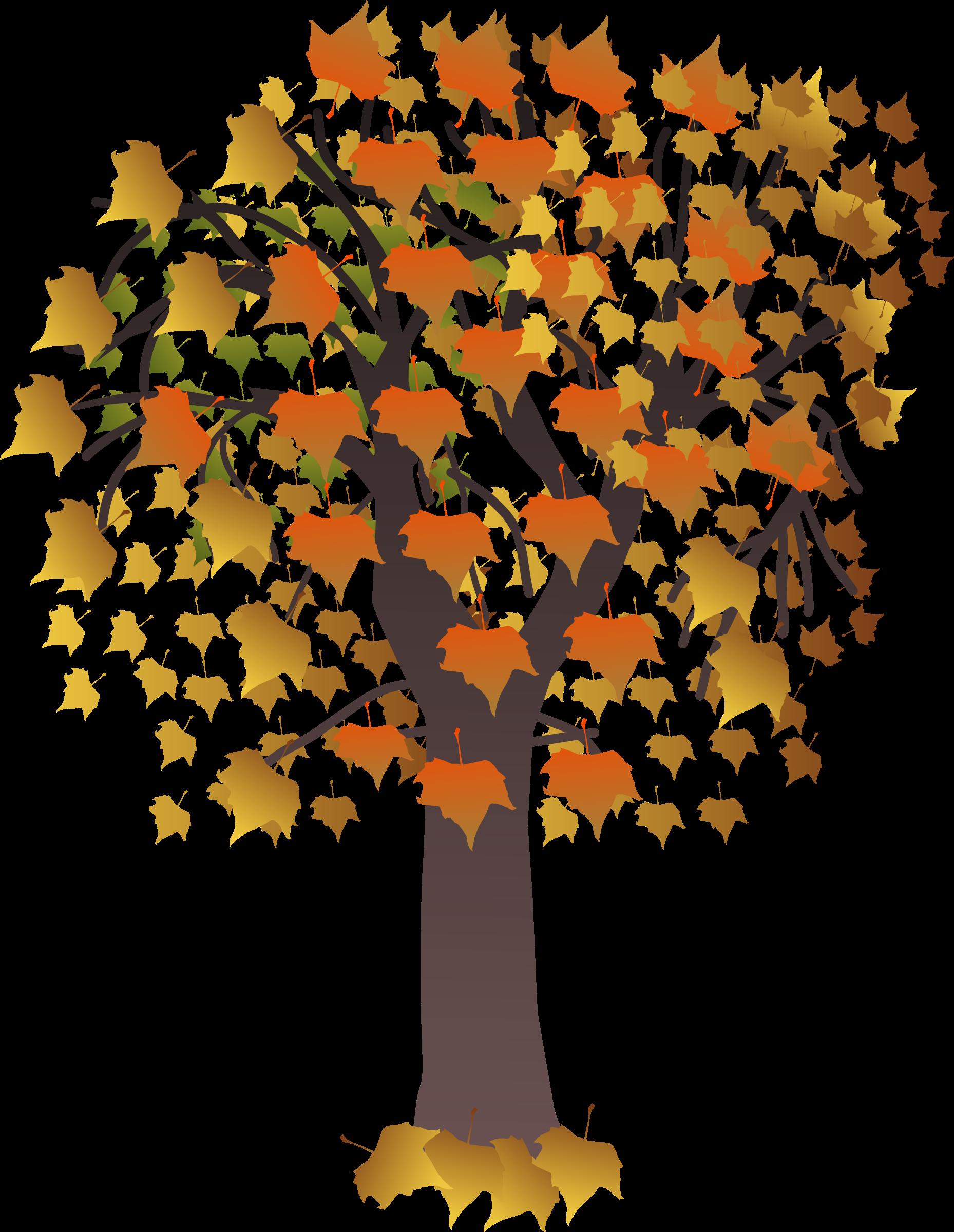 Maple autumn big image. Clipart fall autumm