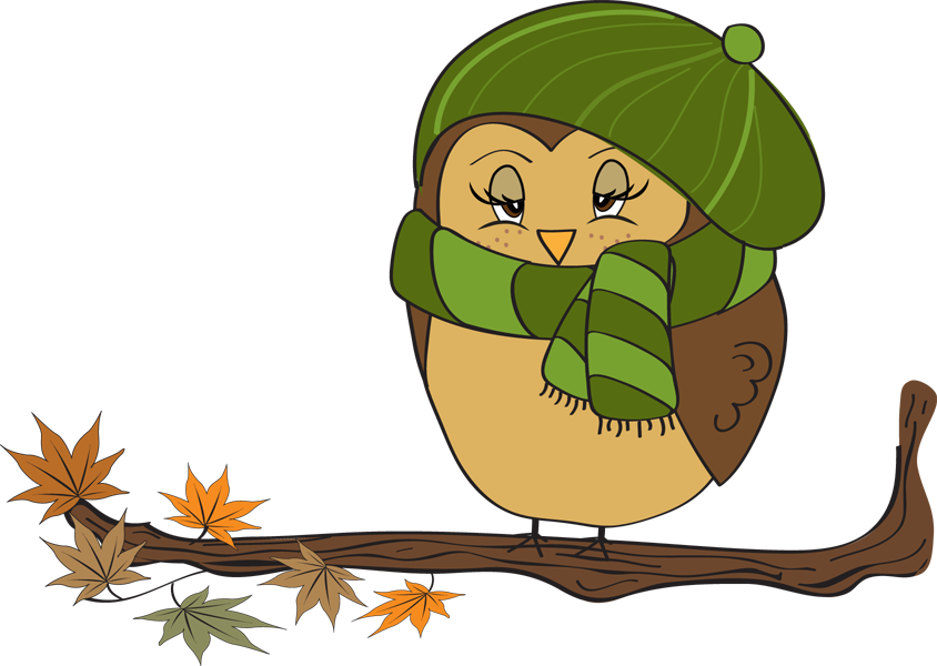 Fall owl female autumn. Witch clipart mouth