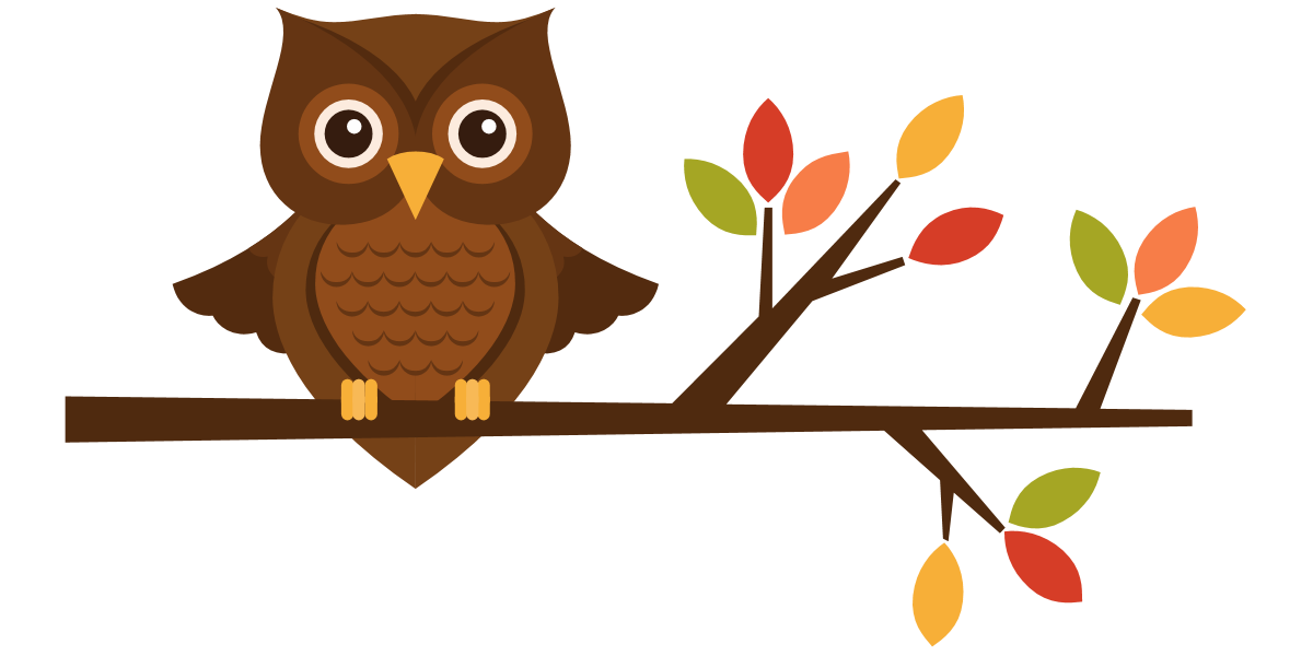 Autumn owl . Clipart fall school