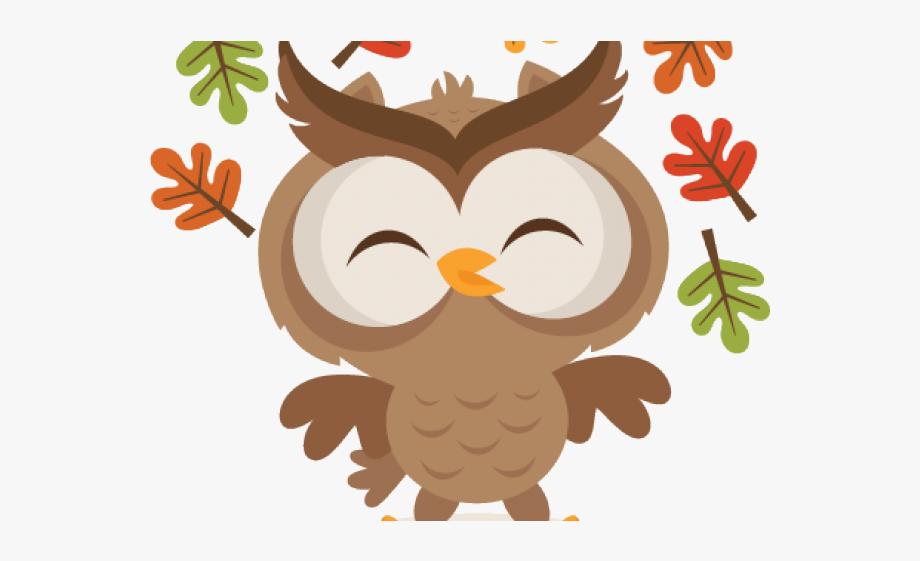Clipart fall cartoon. Autumn owl transparent free