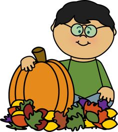 Autumn clipart preschool. Boy playing in leaves