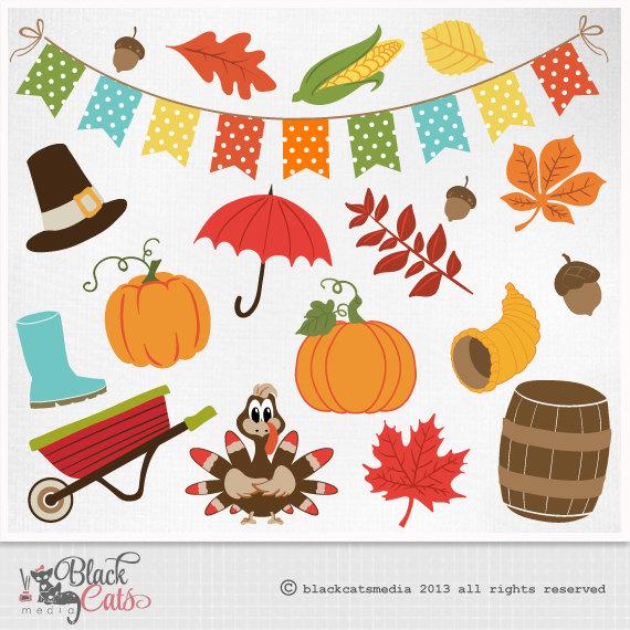 Autumn clipart scrapbook. Fall clip art digital
