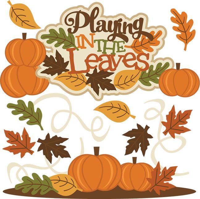 Autumn clipart scrapbook.  best board images