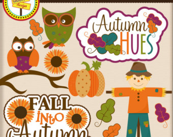 Owl clip art owls. Autumn clipart scrapbook