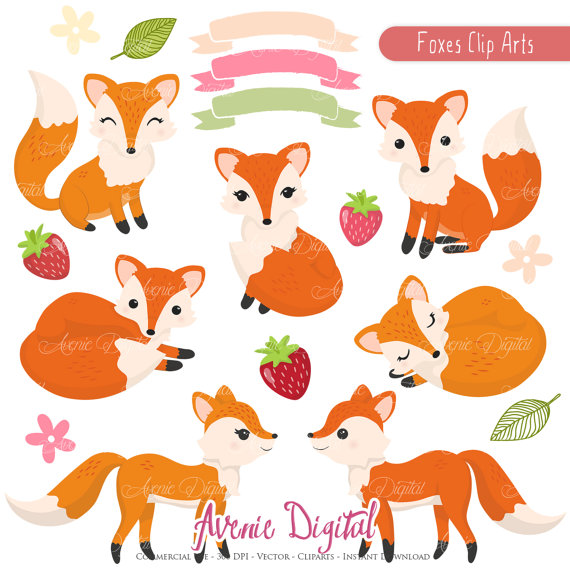 Autumn clipart scrapbook. Cute fox printables clip