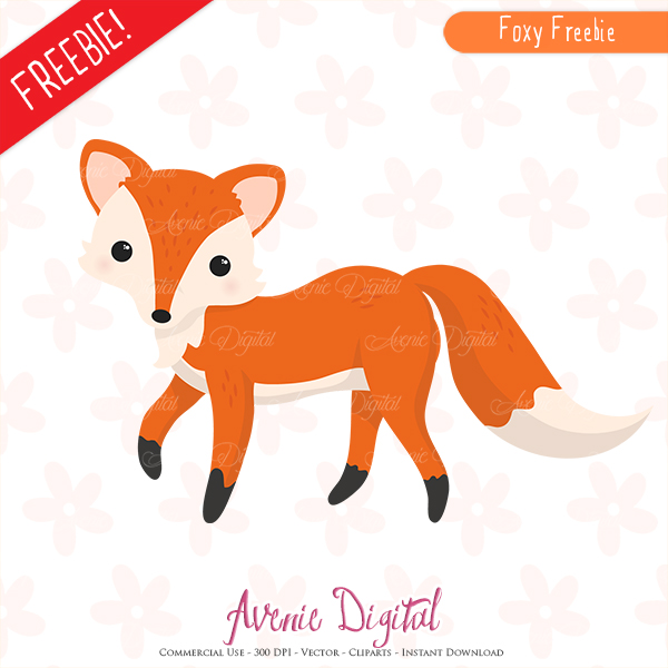 Free cute fox printables. Autumn clipart scrapbook