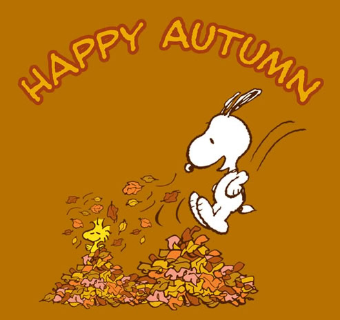 Autumn clipart snoopy. Happy hello image picturescafe