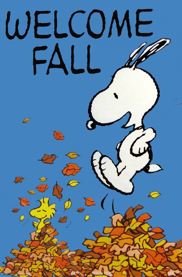 Autumn clipart snoopy. Welcomes fall pictures photos