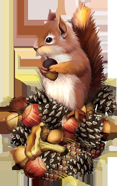 Tubes cureuils bullet journals. Autumn clipart squirrel
