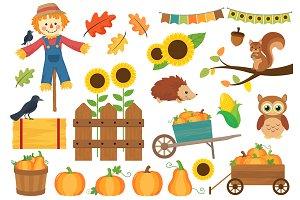 Autumn clipart squirrel. Photos graphics fonts themes