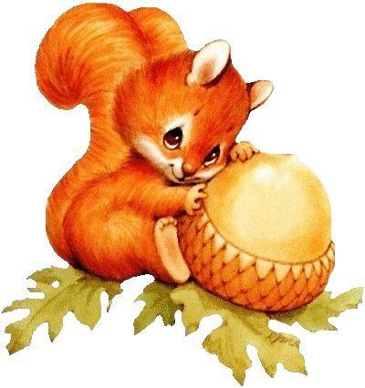 Baby clip art fall. Autumn clipart squirrel
