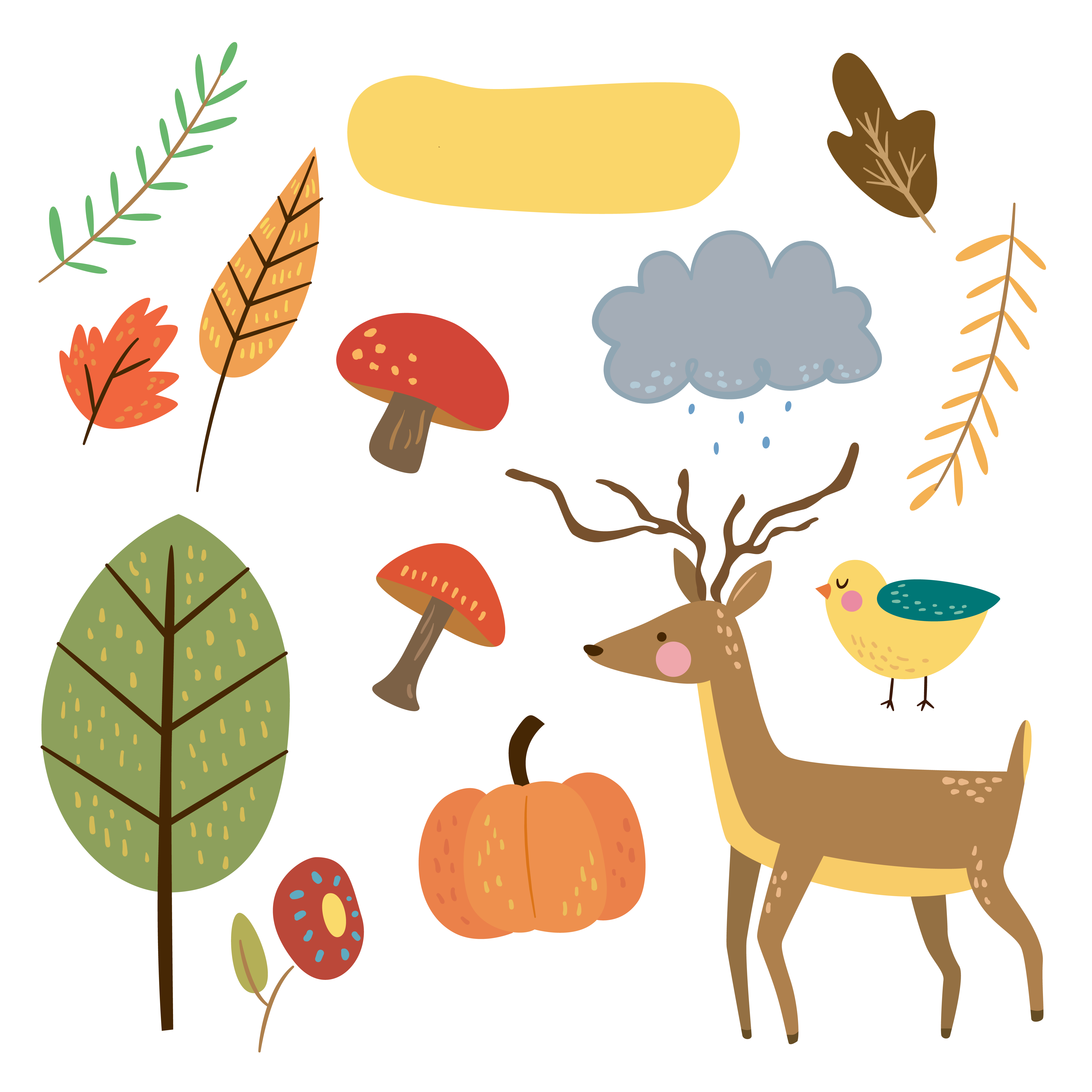 Free critter autumn stickers. Planner clipart digital