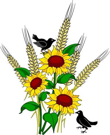 Fall and seasonal graphics. Autumn clipart sunflower
