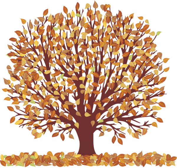 Memories clipart purple tree. Autumn with falling leaves