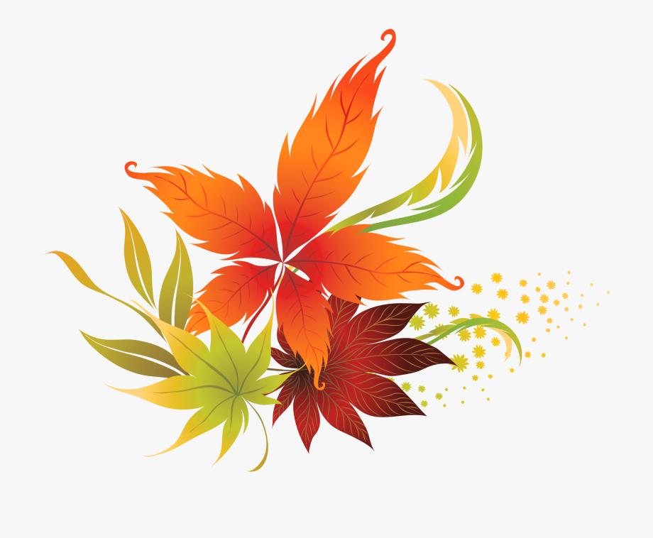 Autumn clipart transparent background. Fall leaves clip art