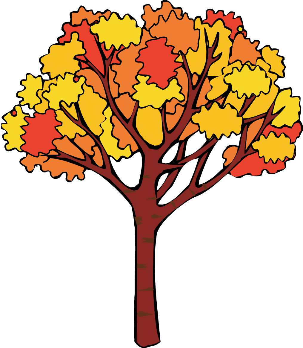 Fall clip art trees. Autumn clipart tree