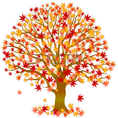 Autumn clipart tree. Clip art crafts picture
