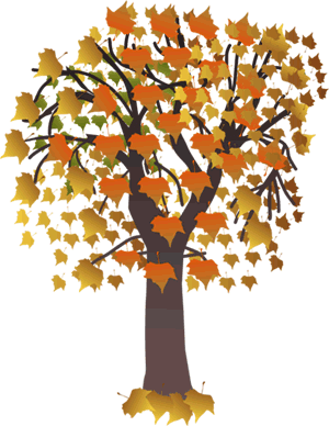 Autumn clipart tree. Station