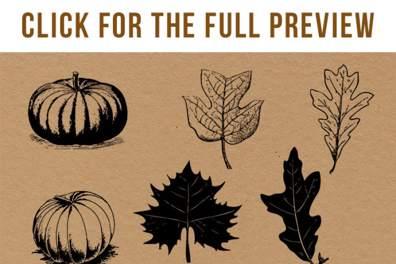 Fall rustic . Autumn clipart vintage