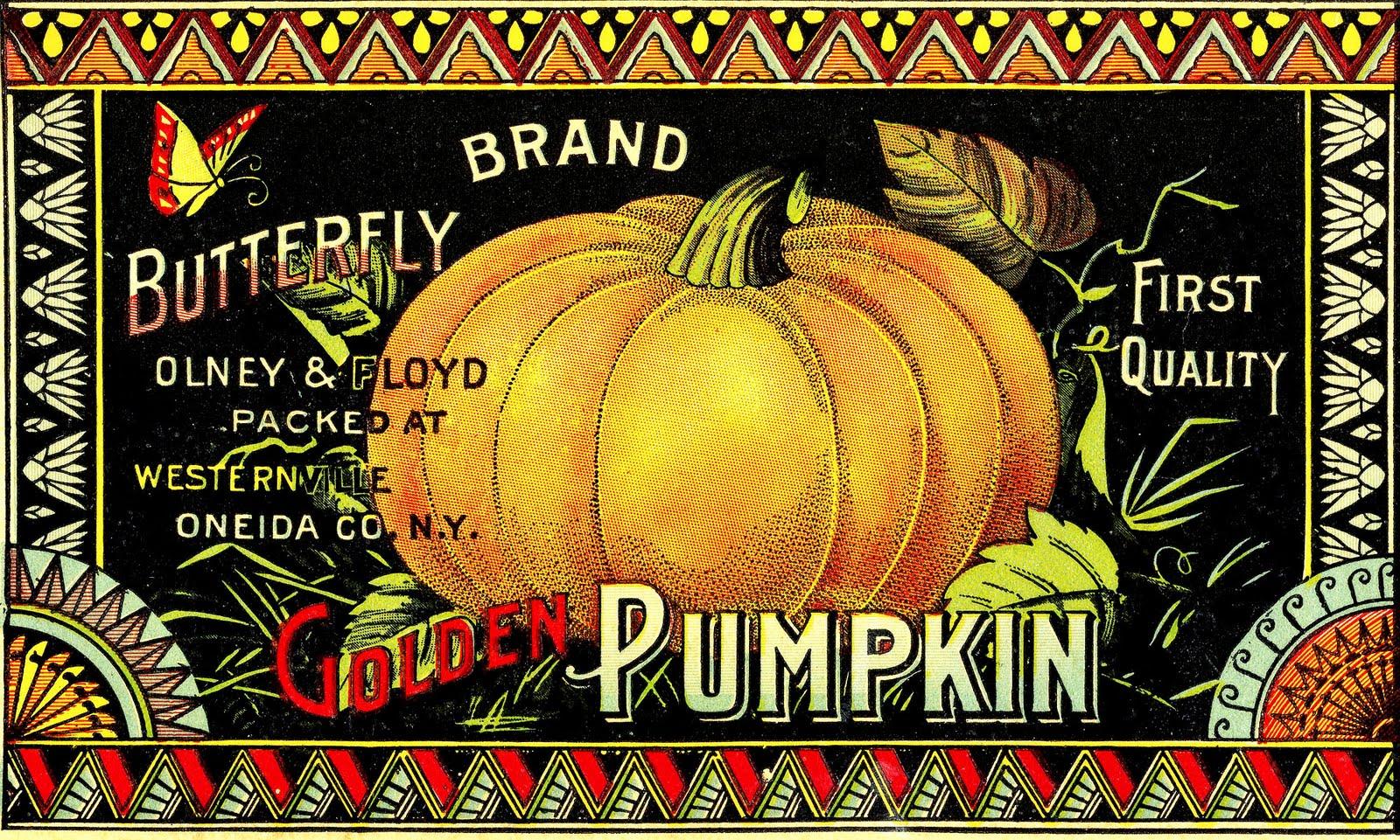Autumn clipart vintage. Halloween clip art pumpkin