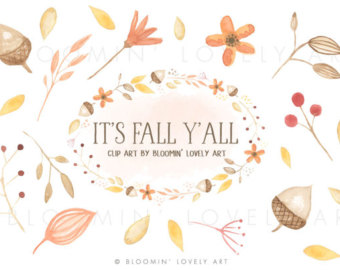 Fall etsy leaves clip. Autumn clipart watercolor