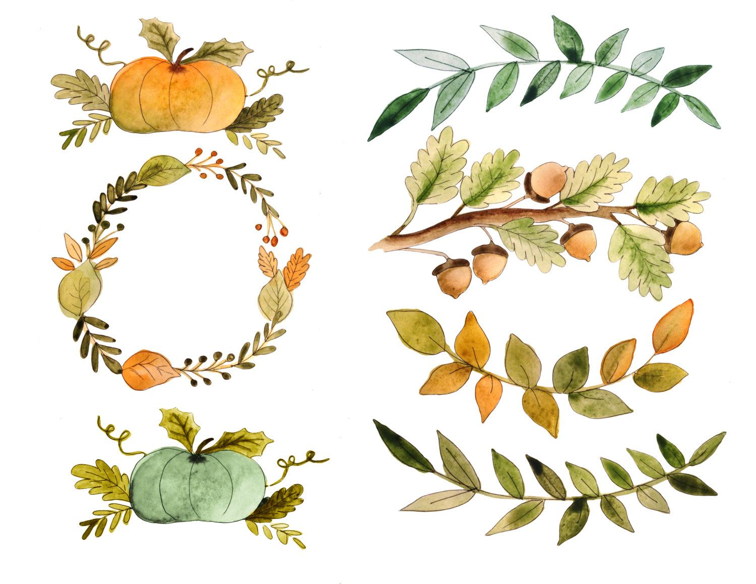 A personal favorite from. Autumn clipart watercolor