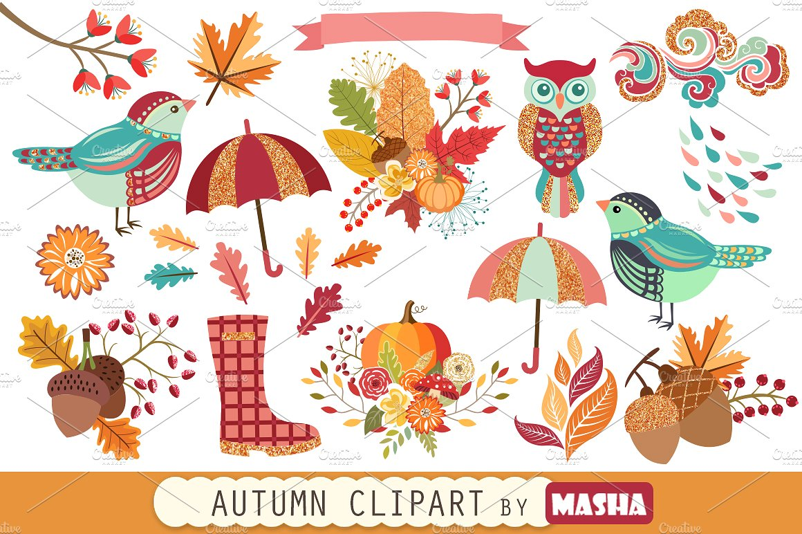 Patterns creative market . Autumn clipart