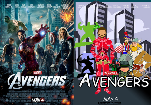 Avengers clipart avengers movie. Posters recreated with comic