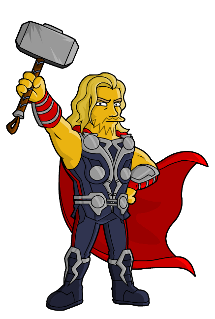 Avengers clipart avengers movie. Thor from springfield simpsons