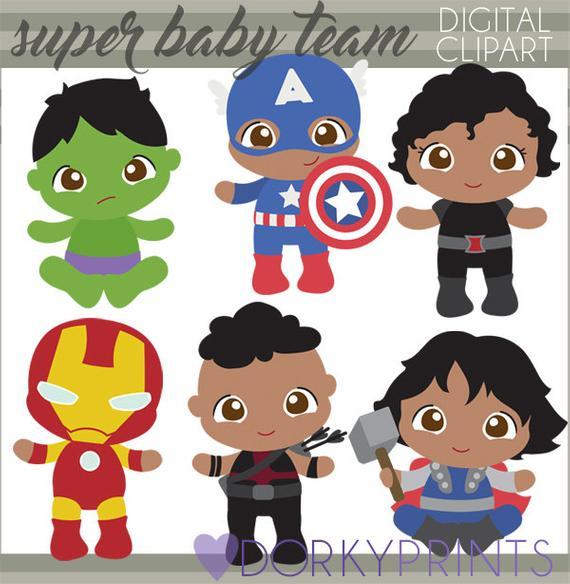 Avengers clipart baby. Superhero babies personal and