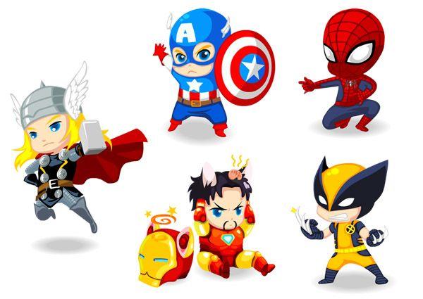 Avengers clipart baby. Marvel s chibi assemble