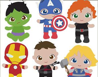 Avengers clipart baby. Etsy
