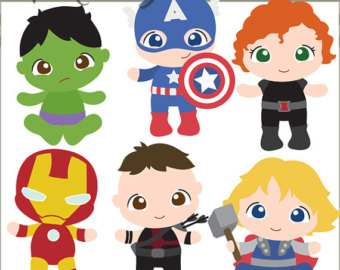 Clip art etsy superhero. Avengers clipart baby