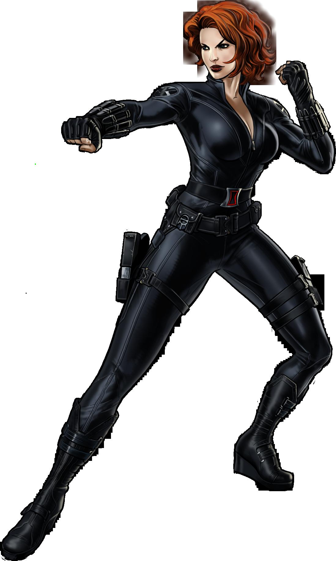 Hero clipart black widow. Image b portrait art