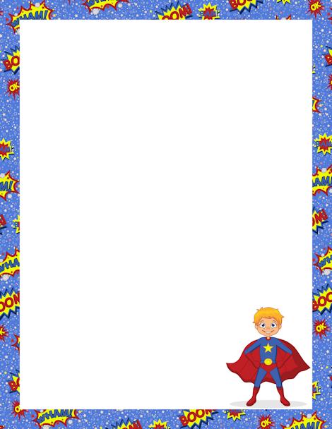 Printable superhero free gif. Avengers clipart border
