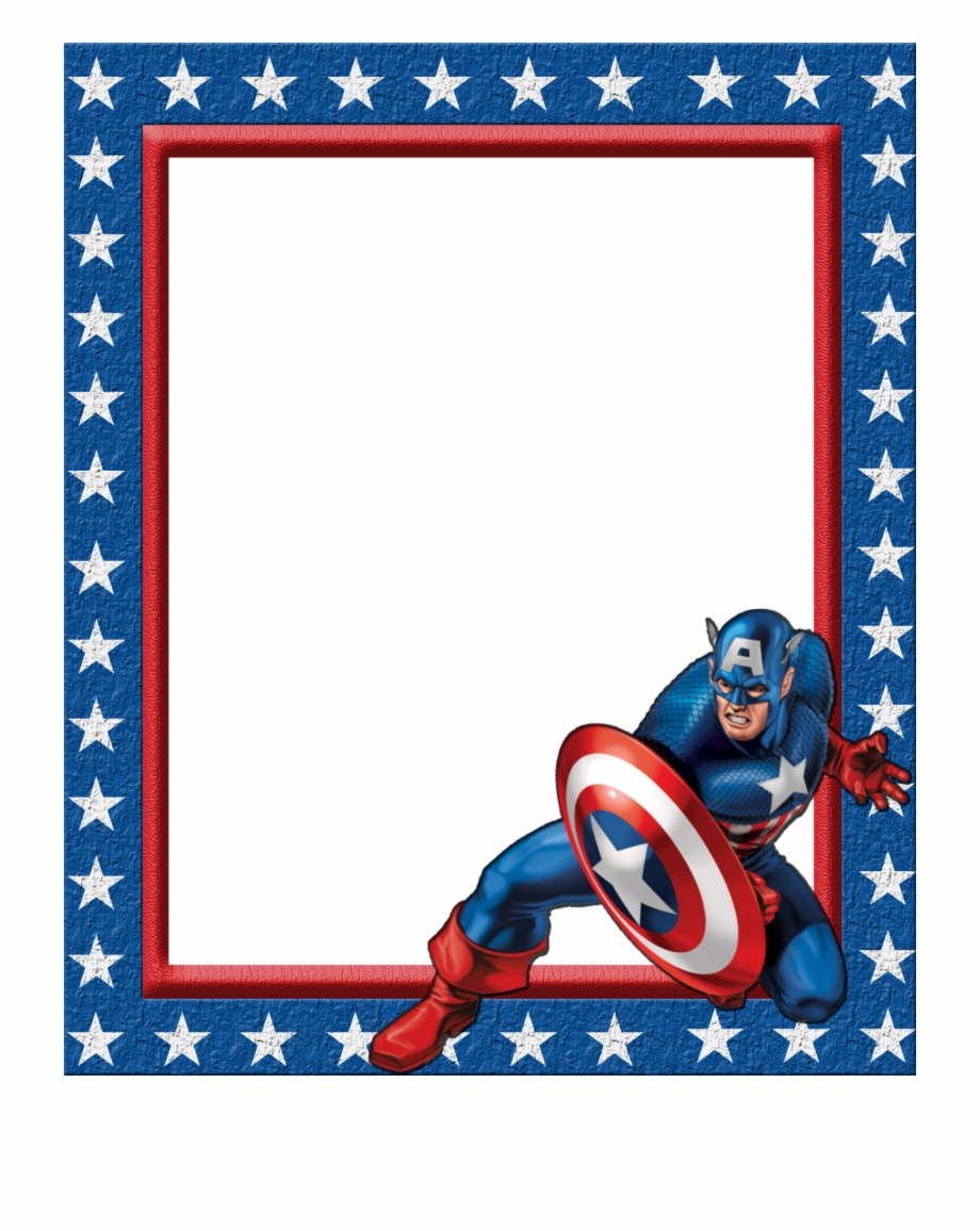 Avengers clipart border. Captain america library
