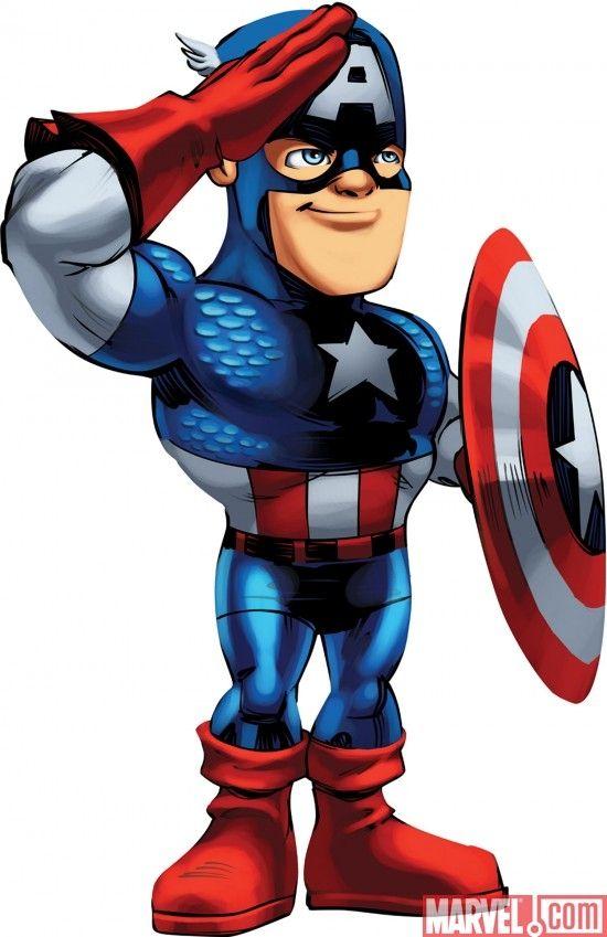 Avengers clipart captain america. Cartoon character superhero squad