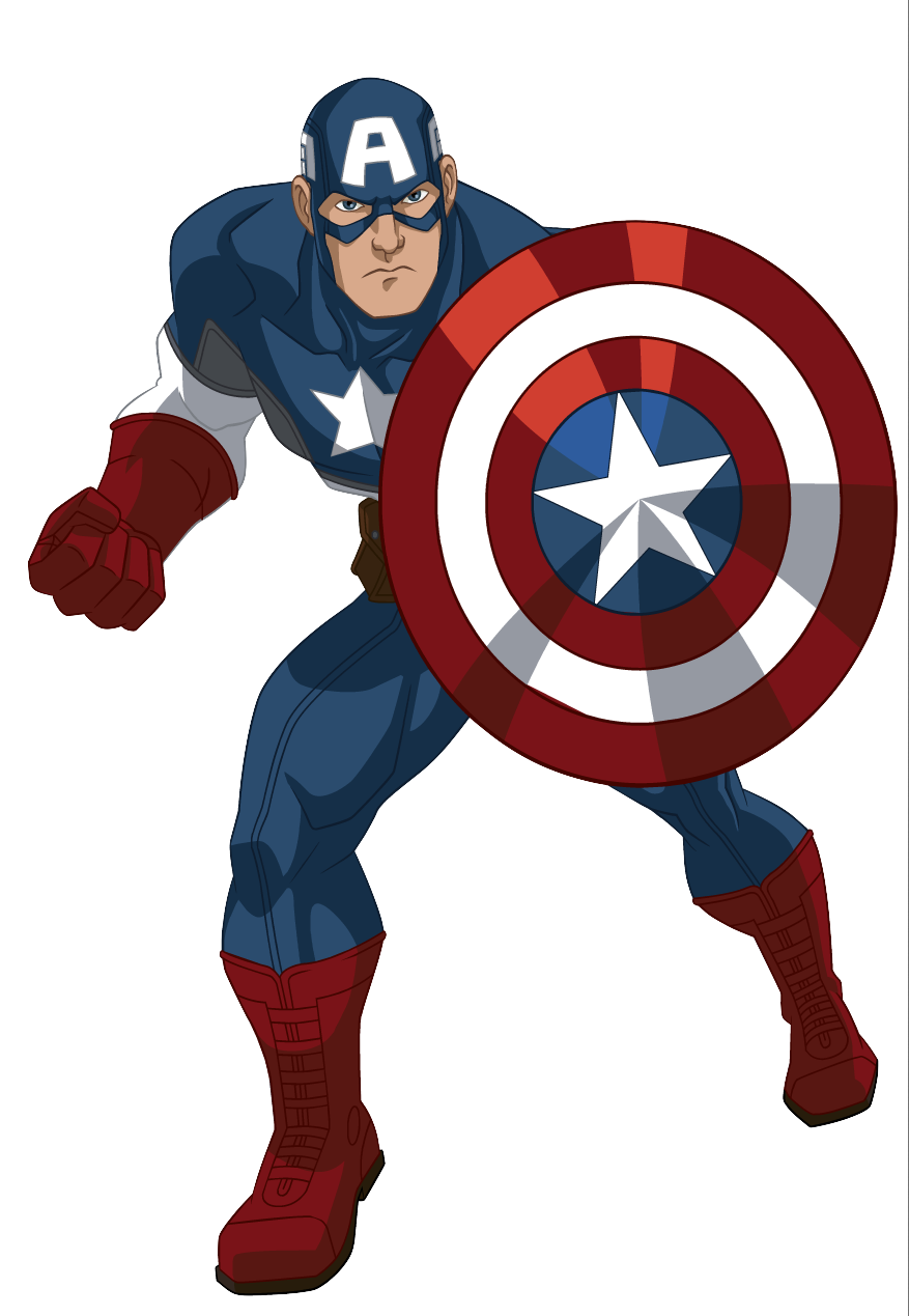 Avengers clipart captain america. Ultimate spider man animated