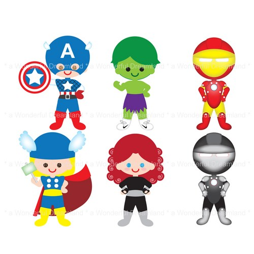 Free . Avengers clipart cartoon