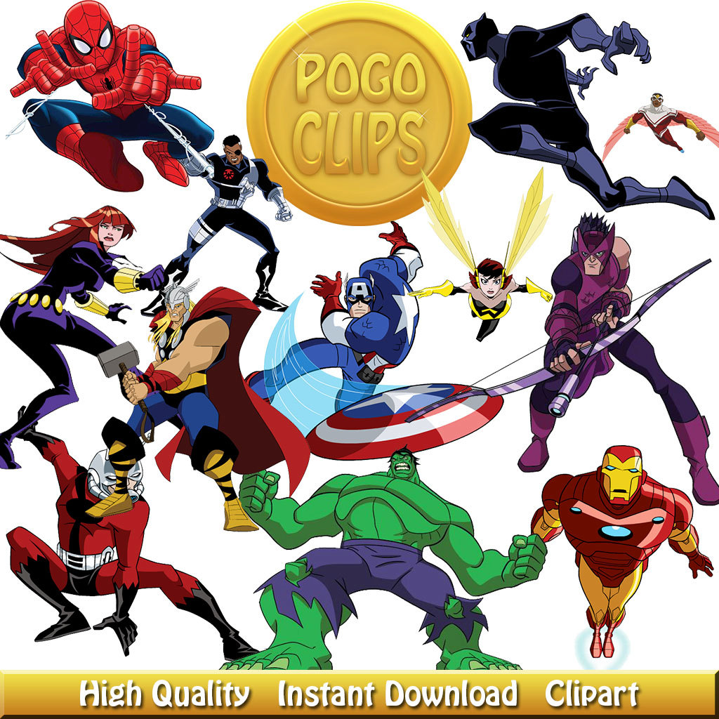 Avengers clipart cartoon.  characters chick design