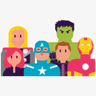 Free the cliparts silhouettes. Avengers clipart cartoon