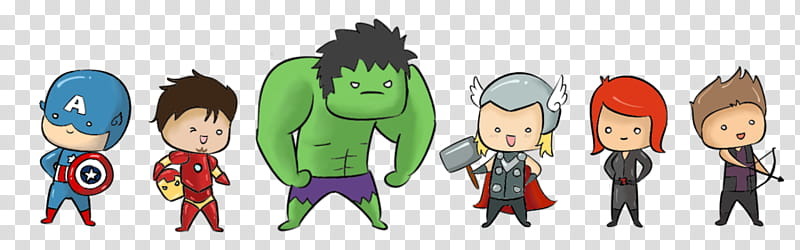 Avengers clipart cartoon. Chibi marvel heroes animation