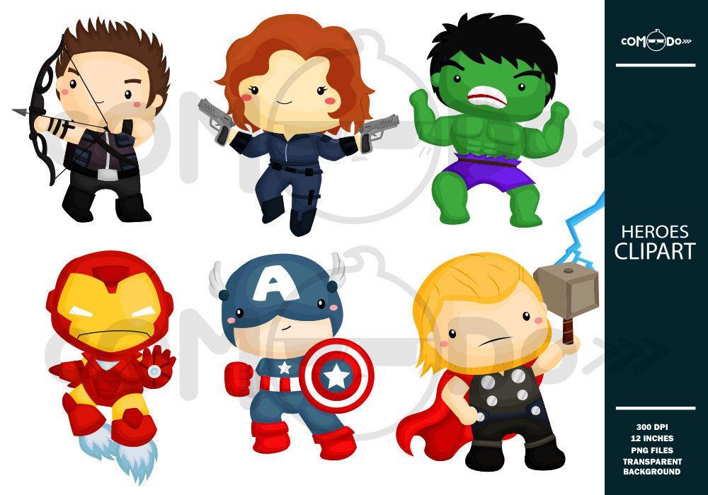 Resultado de imagem para. Avengers clipart cute