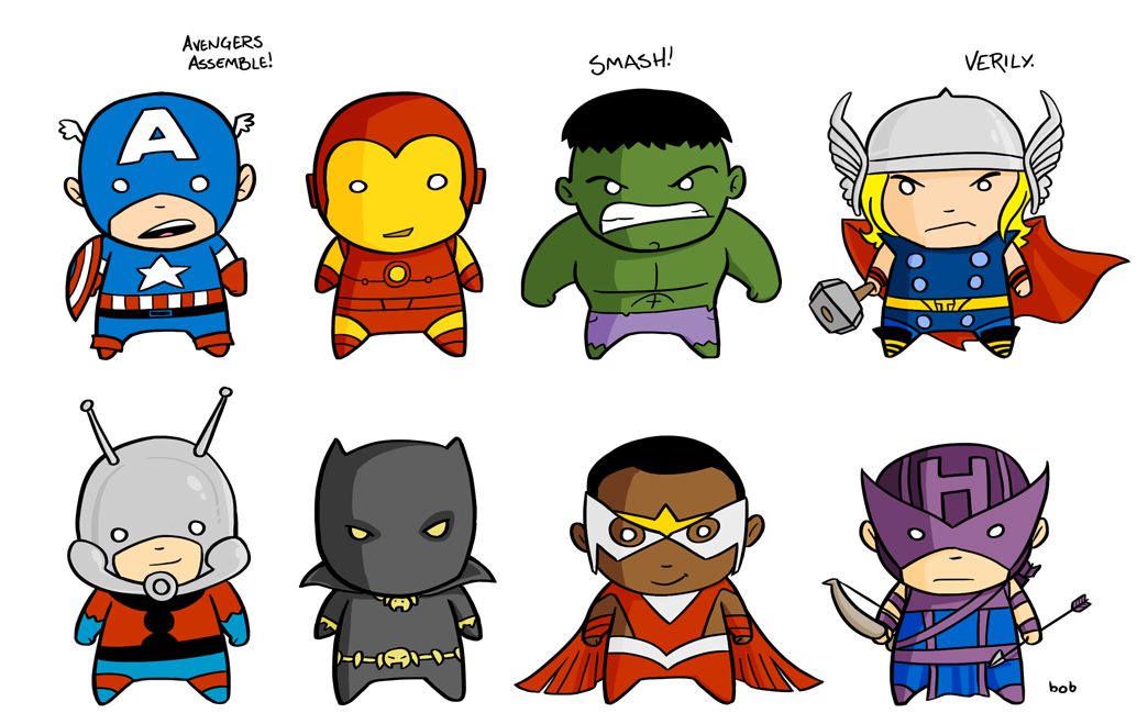 Avengers clipart cute.  collection of cartoon