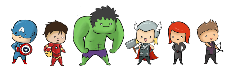 Chibi by superpsyduck on. Avengers clipart cute