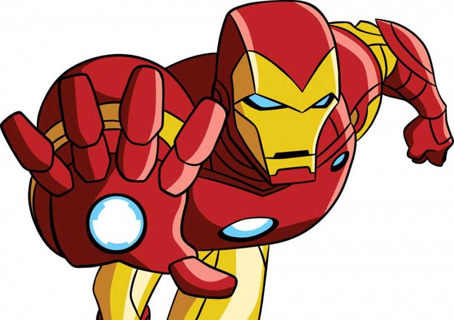 Iron man cartoon drawing. Avengers clipart ironman