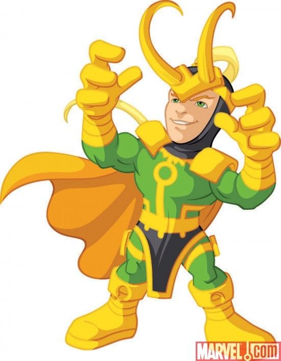 Avengers clipart loki. Marvel super hero squad