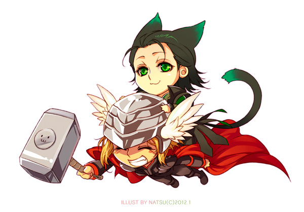 Marvel thor and by. Avengers clipart loki